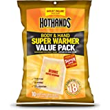 HotHands Body & Hand Super Warmers - Long Lasting Safe Natural Odorless Air Activated Warmers - Up to 18 Hours of Heat…