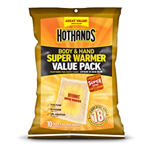HotHands Body & Hand Super Warmers - Long Lasting Safe Natural Odorless Air Activated Warmers - Up to 18 Hours of Heat