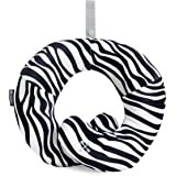 BCOZZY Kids Chin Supporting Patented Travel Pillow - keeps the child's head from bobbing up and down in car rides, providing comfort and support for the neck and head. Child size (Zebra)