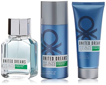 Benetton United Dreams Man Go Agua de Colonia + Desodorante + Aftershave - 1 Pack: Amazon.es: Belleza