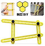 Angleizer Template Tool by BuzzDIY | Highly Durable - Multi Angle Template Tool - Easy Angle Ruler - DIY Tools - Multi Angle Measuring Tool - Measures Angles and Forms for any Surface - Extreme Ruler | Great gift for Builders, Roofers, Tilers, DIYers