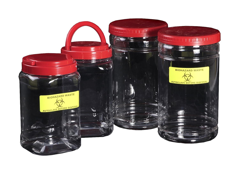 Medline 870036H PET Sweet Jar with Label, Large (Pack of 16)