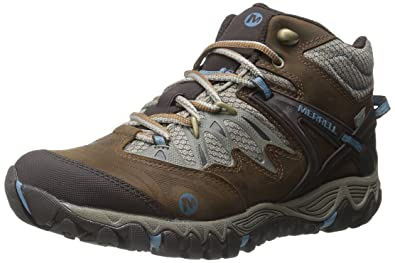 Womens Merrell Women's All Out Blaze Mid Waterproof Hiking Boot Factory Outlet Size 37