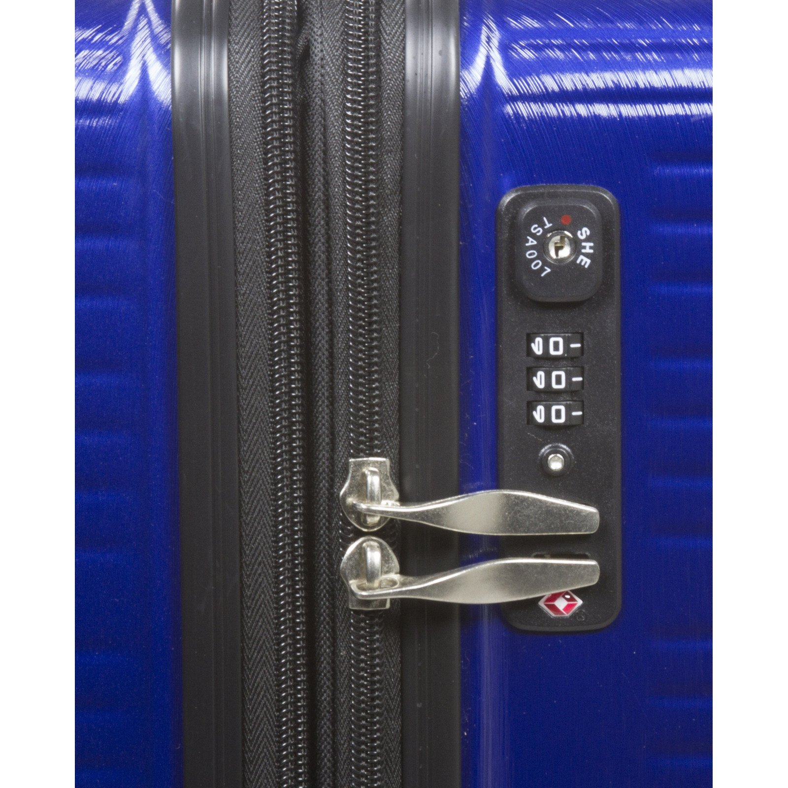 Dejuno Ashford 3-PC Hardside Spinner TSA Combination Lock Luggage Set - Navy by Dejuno (Image #5)