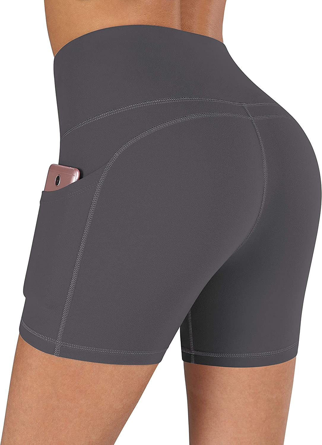 CUGOAO High Waist Biker Shorts for Women, Workout Yoga Shorts with Side Pockets Non See-Through Compression Shorts