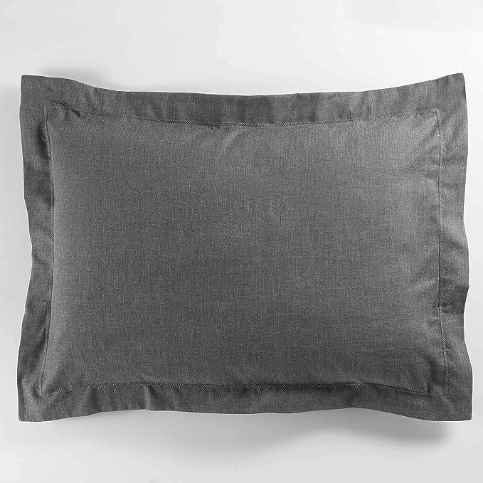 Douceur d'Intérieur Actually Taie d'oreiller, Polyester, Gris, 50 x 70 cm