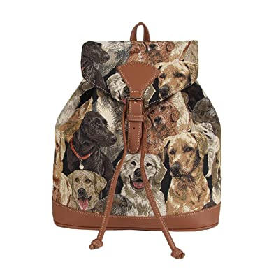 Amazon.com: Signare Tapestry Women Tan Flap Buckle Pull String Fashion Rucksack Backpack with Labrador Dog (RUCK-LAB): Shoes