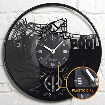 Amazon Com Deadpool Clock Wall Vinyl Marvel Deadpool Gifts Men