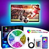 LED Strip Lights TV LED Backlight RGB LED Strip USB Powered for 24 Inch-60 Inch TV,Mirror,PC, APP Control Sync to Music, Bias Lighting, 5050 RGB for Android iOS