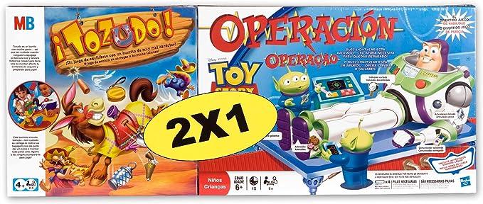 Hasbro Juegos Infantiles Tozudo + Operación Toy Story 38295500: Amazon.es: Juguetes y juegos