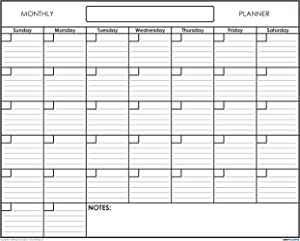 "SwiftGlimpse 36"" x 48"" Wet Erase Undated 1 Month Wall Calendar Monthly Planner Blank Reusable Perfect for Organizing Home Office Academic Schedules"