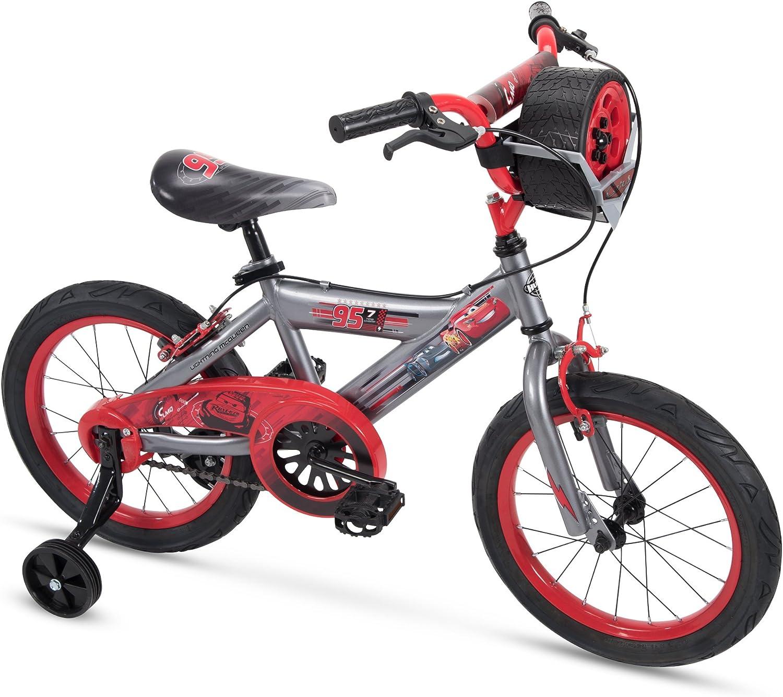 Huffy Disney Cars - Bicicleta Infantil con Luces y Sonidos de Juguete, Ruedas de Entrenamiento