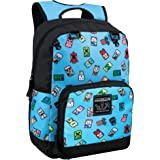 JINX Minecraft Bobble Mobs Kids School Backpack, Blue, 17""