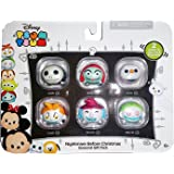 Disney Tsum Tsum Nightmare Before Christmas Seasonal Gift Pack - 6 Vinyls Figures, with 2 Glow in the Dark Figures