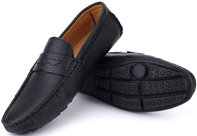 Mio Marino Mens Slip-on Driving Shoes}