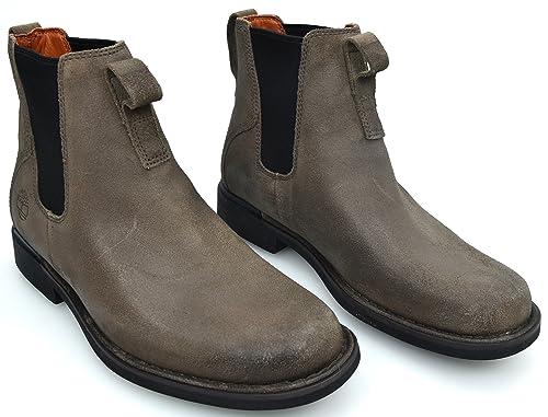 TIMBERLAND Botines EN EL Tobillo Beatles para Hombre Gamuza TÓRTOLA Art. 78537 41 EU - 7,5 USA - 7 UK Tortora - Taupe: Amazon.es: Zapatos y complementos
