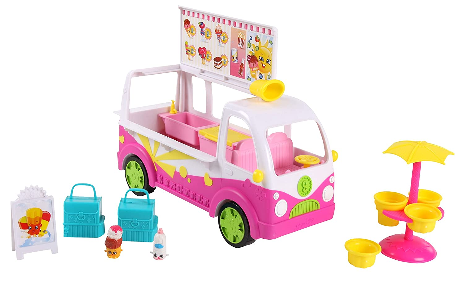amazon com shopkins s3 scoops ice cream truck toys u0026 games