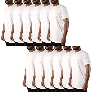 942eed6f1 JOTW 12 Pack Men's White Cotton Crew Neck T-Shirt - Available in ...