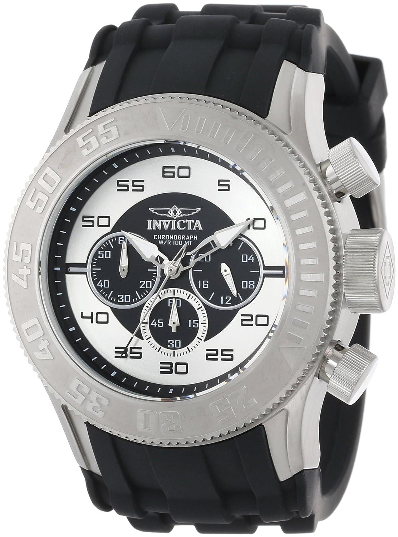 Amazon.com: Invicta Men's 14974 Pro Diver Chronograph Black Silver Dial  Black Silicone Watch: Invicta: Watches