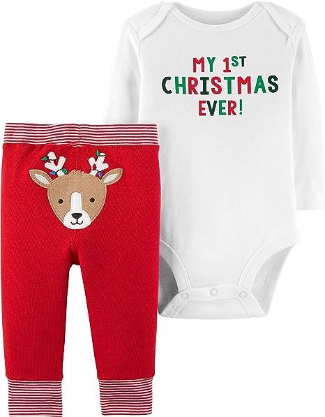 7e06723531aa Amazon.com  Carter s Baby Boys  Christmas 2-Piece Bodysuit   Pant ...