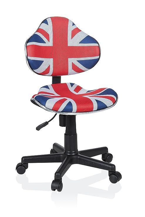 Hjh Office 670932 Kinder Schreibtischstuhl Kiddy Gti 2 Stoff Blau