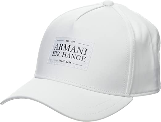 Armani Exchange Logo 1991 Gorra de béisbol, Blanco (Bianco 00010 ...