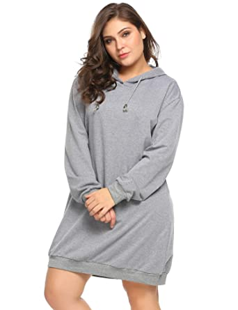 Zeagoo Women\'s Casual Plus Size Pullover Hoodie Tunic Top Sweatshirt ...