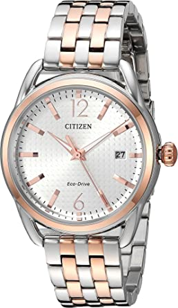 19b1a9afe66ef6 Amazon.com: Citizen Watches Women's FE6086-74A Eco-Drive Two-Tone ...