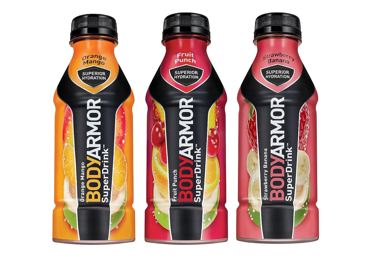 BodyArmor SuperDrink, Electrolyte Sport Drink, 3 Flavor Variety Pack, 16 oz Bottles, (Pack of 12)