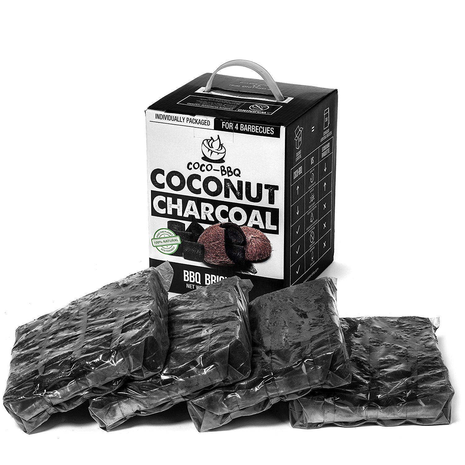 COCO-BBQ Eco-Friendly Barbecue (SET OF 6) Charcoal Made from Coconut Shells for Low and Slow Grilling by COCO-BBQ (Image #2)