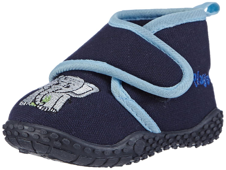 Playshoes Hausschuh Elefant, Chaussures Bébé marche Mixte Enfant