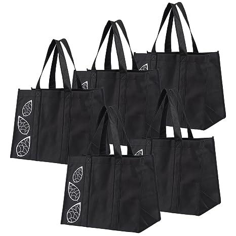 Amazon.com: Bekith, juego de 5 bolsas grandes de compras ...