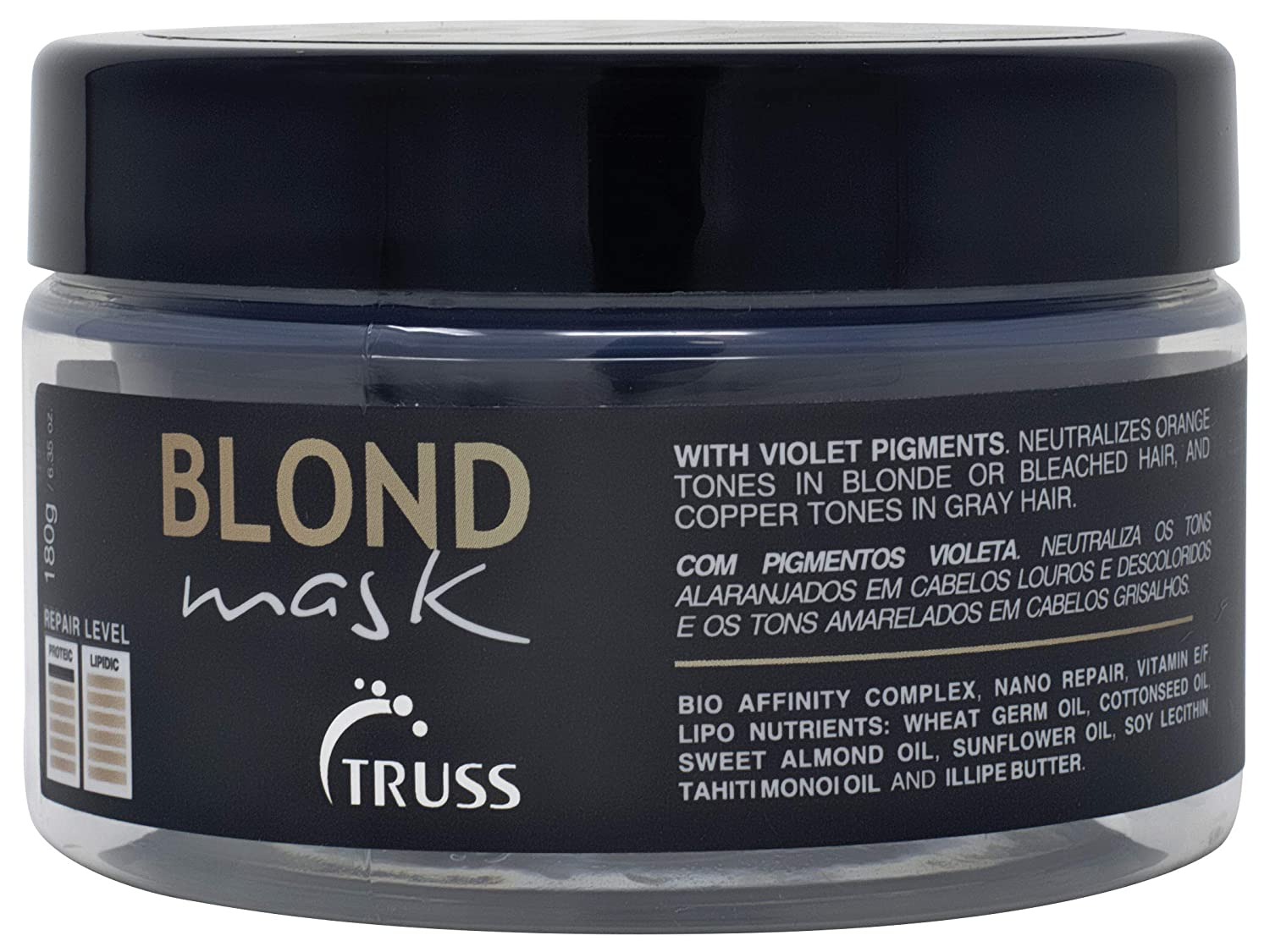 Truss Blond Mask - Hair Mask Treatment for Blonde, Bleached and Gray Hair - Violet Pigments Neutralizes Unwanted Orange Tones and Brassiness - Hydrating Mask for Dry Damaged Hair