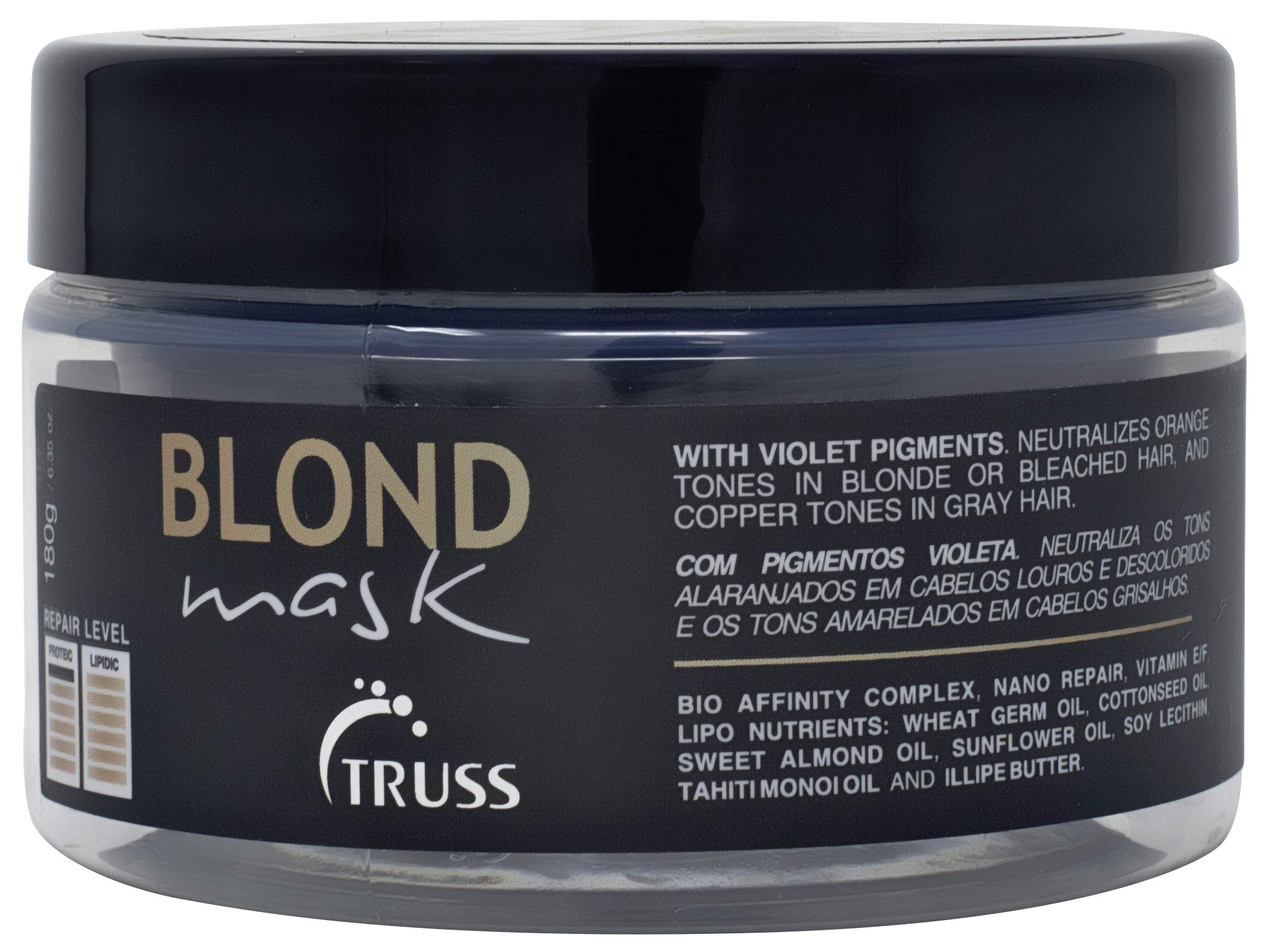 Truss Blond Mask - Hair Mask Treatment for Blonde, Bleached and Gray Hair - Violet