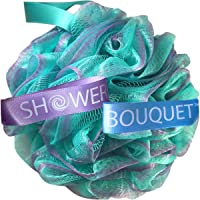 Loofah Bath Sponge Swirl Set XL 75g by Shower Bouquet: Extra Large Mesh Pouf (4...