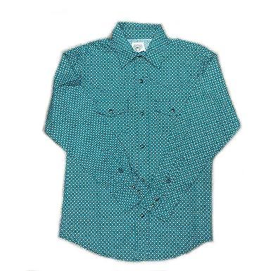 4ca8bd9c5 Amazon.com: Cinch Boy's Teal And Black Print Western Shirt (XX-large ...