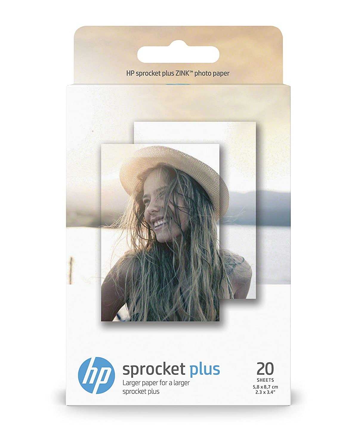 HP Zink Carta Fotografica Autoadesiva per Sprocket Plus, 5.8 x 8.7 cm Hewlett Packard 2LY72A