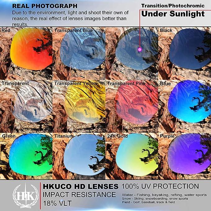 b7aef3611e Amazon.com  Hkuco Mens Replacement Lenses For Costa Fisch fs  Red Blue Black 24K Gold Titanium Emerald Green Sunglasses  Clothing