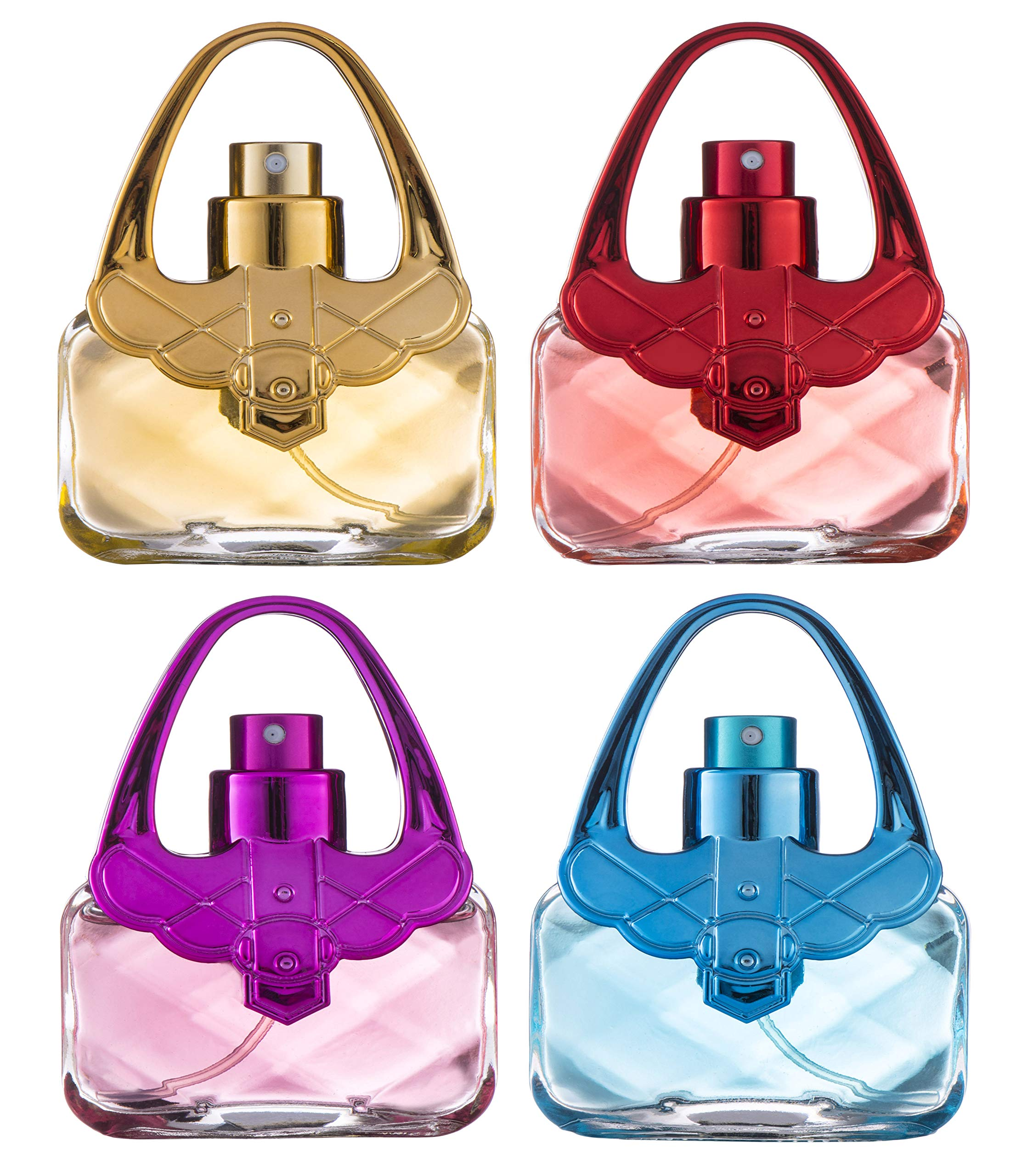 Eau De Fragrance Perfume Sets for Girls- Perfect Body Mist Gift Set for Teens and Kids - Purses - 4 Pack by SCENTED THINGS
