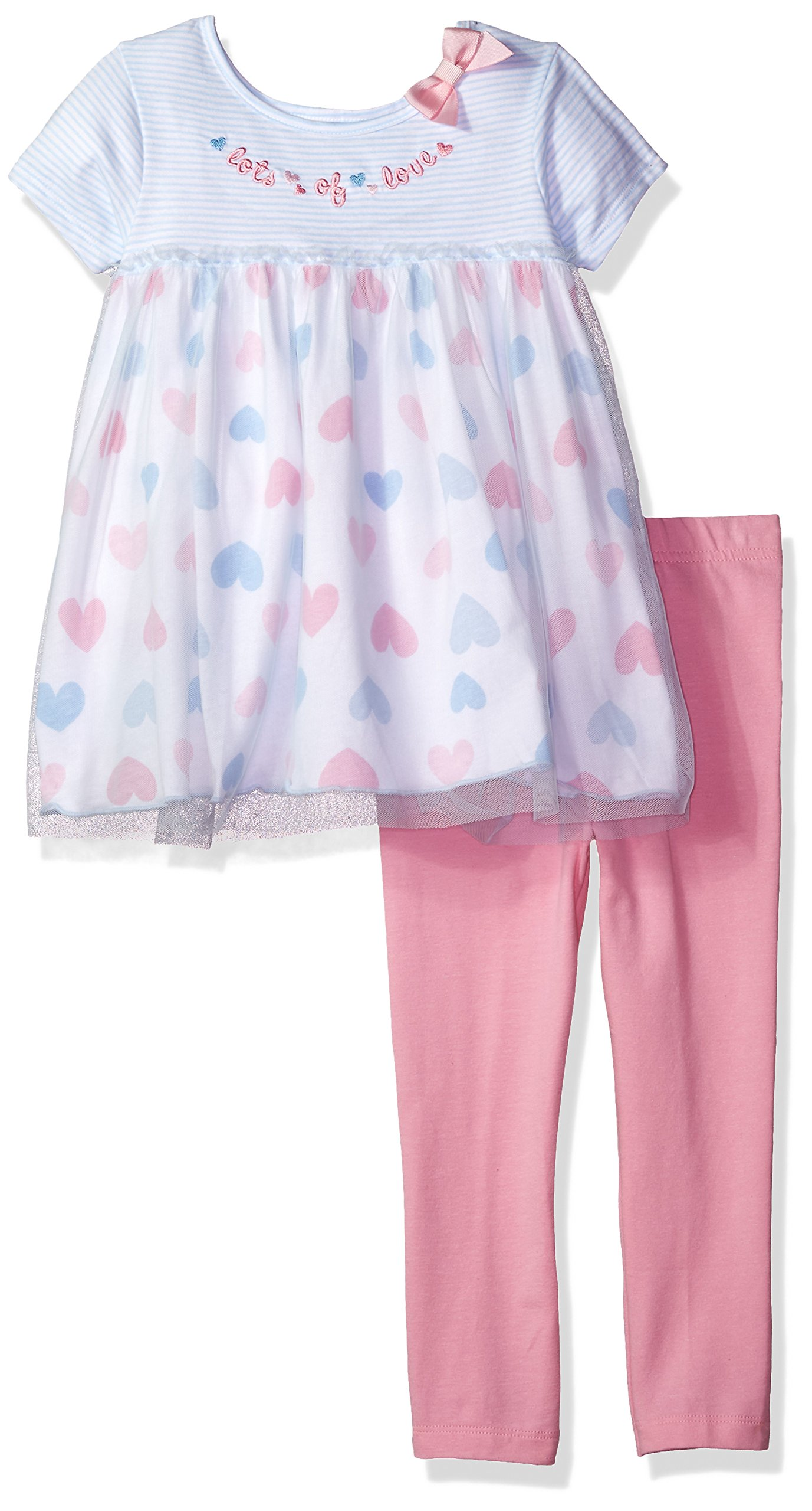 Gerber Toddler Girls' Tunic and Legging Set, Hearts, 5T