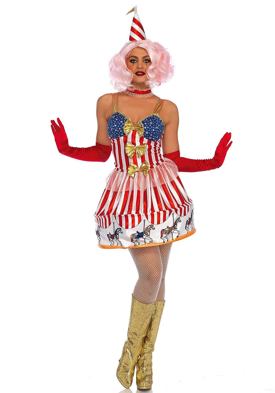 Leg Avenue LO85636 Carousel Clown Kostüm, Vielfarbig, Large (EUR 40)
