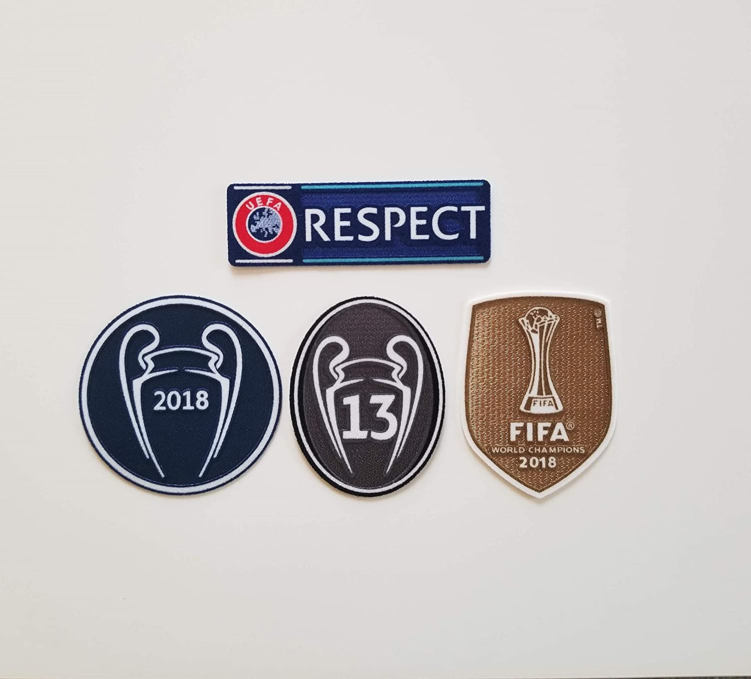 2018 UEFA Champions League Real Madrid Set Soccer Patch 13 Trophy Respect Bale Benzema Hazard