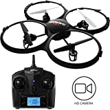 Force1 UDI U818A Discovery Drone for Kids – HD Drone with Camera for Beginners -720p RC Camera Drones w/ 360° Flips & Extra Battery