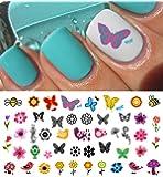 Spring Fever Nail Art Decals Set #1 - Flowers, Birds, Butterflies & More! Salon Quality!