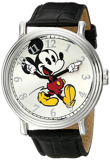 ed514c72e323 Disney Mickey Mouse W001868 Reloj plateado