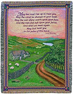 Manual Irish Collection 50 x 60-Inch Tapestry Throw, Blessings of Ireland
