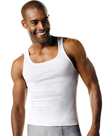 cd311c36d41bd Amazon.com  Hanes Men s Tagless ComfortSoft White A-Shirt 6-Pack  Clothing