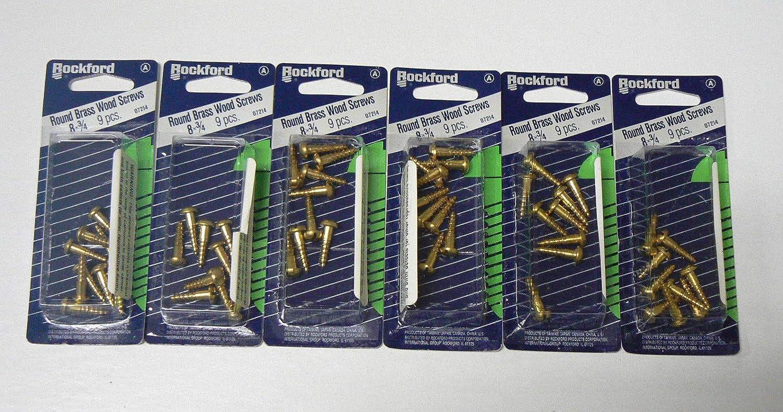 Brass #10 X 1-3//4 60 pcs Flat Phillips Drive Wood Screws