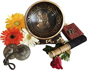 Amazon.com: Tingsha - Juego de platillos tibetanos con mazo ...