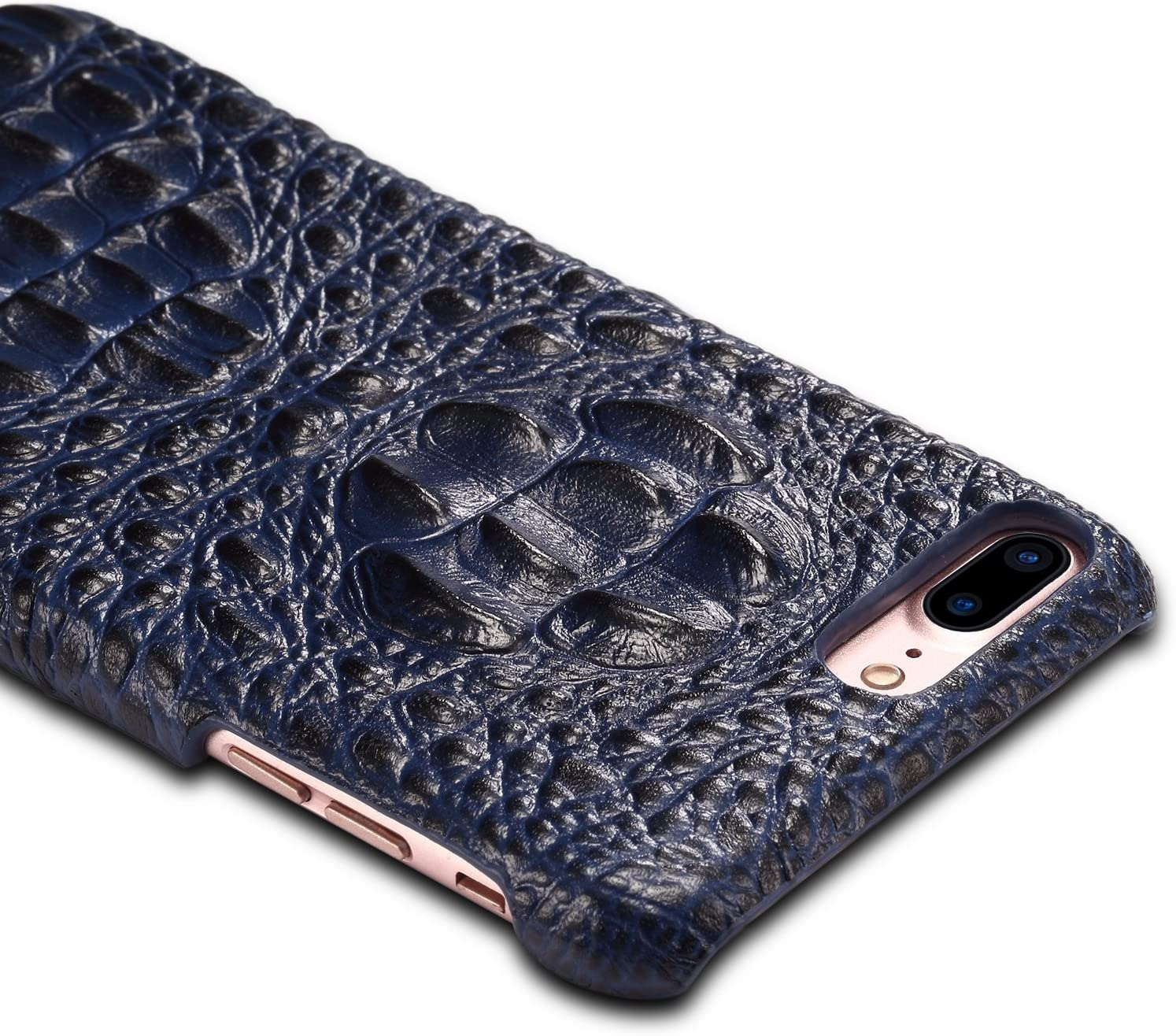 Genuine Leather Case for iPhone 8 Plus,3D Crocodile Pattern Premium Leather Back Cover Case for iPhone 6//iPhone 6s//iPhone 7//iPhone 8//iPhone 7 Plus